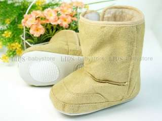 A254 new baby toddler girl boy brown boots shoes 12M 18M 24M