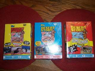 DESERT STORM TRADING CARDS TOPPS ALL 3 SERIES UNOPENED BOXES