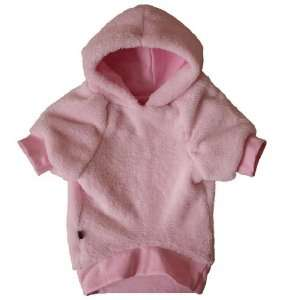 Whisper Fleece Dog Hoodie   Blush Pink   XSmall Pet
