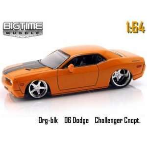 Jada Dub City Big Time Muscle Orange 2006 Dodge Challenger Concept 1