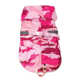 XSMALL All Weather Pink Camo Dog Coat Jacket XS