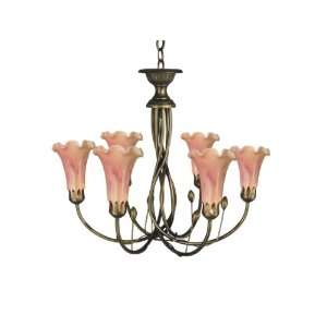 Dale Tiffany TH60360 Victoria Lily Light Fixture, Antique
