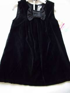 Carters Toddler Girls Black Velvet Sleeveless Dress
