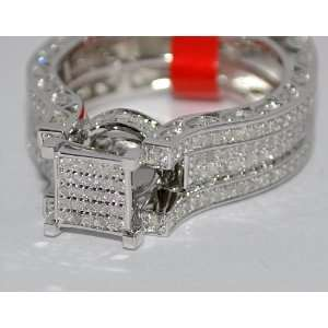 Engagement Ring Princess Cut Top White Gold Finish 925 Siz 7 Jewelry
