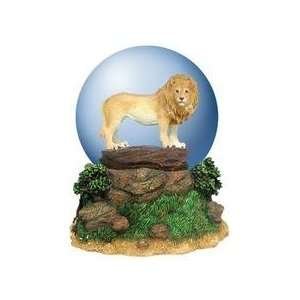 King of the Jungle Waterglobe with Proud Lion Standing on