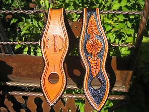 Custom Hand Tooled Leather Floral Slobber Straps