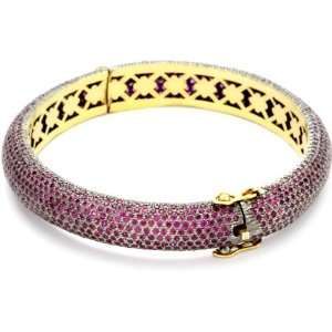 Shery Shabani Red Carpet Pink Sapphire Gold and Silver