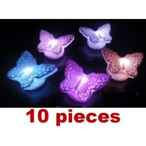 10pcs butterfly shape LED Lamp color changing LED FLOATING