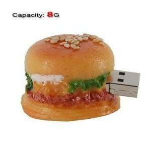 8GB Lovely Mini Hamburger Shape Flash Drive (Yellow