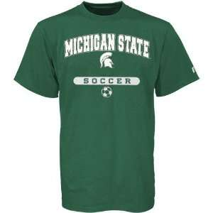 NCAA Russell Michigan State Spartans Green Soccer T shirt
