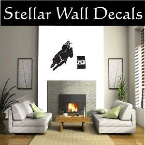 Cowboy Horse Rodeo Wall Car Vinyl Decal Sticker ST002
