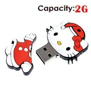 2G Rubber USB Flash Drive with Cat Shape Electronics