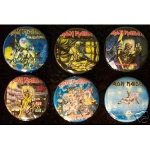 Set of 6 BRAND NEW Iron Maiden One Inch Magnets