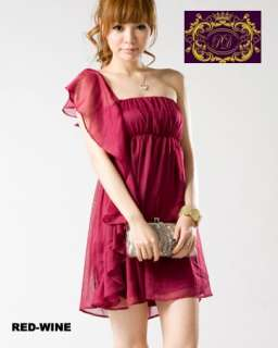 Ruffle Lace Chiffon Dress Shirt RED WINE xs s m