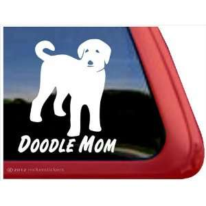 Doodle Mom ~ Labradoodle Vinyl Window Auto Decal Sticker