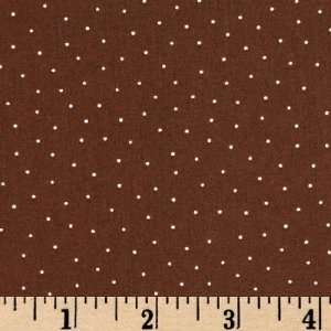44 Wide Itty Bitty Baby Boy Pin Dots Brown Fabric By The