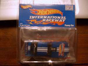 2002 HOT WHEELS INTERNATIONAL RACEWAY FUNNY CAR BLUE