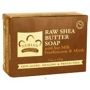 Nubian Heritage Bar Soap Raw Shea Butter   5 Oz, 2 Pack Beauty