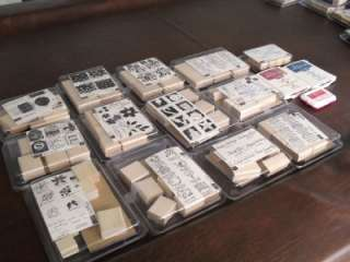 HUGE LOT 74 BRAND NEW STAMPIN UP WOOD MOUNTED STAMPS HOLIDAYS LOVE