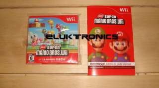 This is a brand new Super Mario Bros Wii Game removed from a brand new