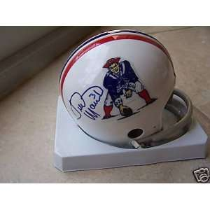 Fred Marion New England Patriots Signed Mini Helmet Coa