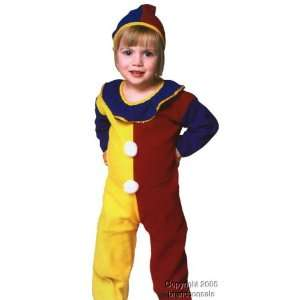 Childs Toddler Clown Halloween Costume (2 4T) Toys