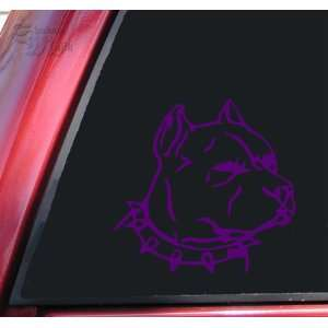 Pit Bull Pitbull Head #1 Vinyl Decal Sticker   Purple