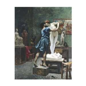 Jean Leon Gerome   Pygmalion And Galatea Giclee Canvas