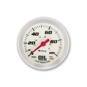 iEquus Performance 2 White Face Oil Pressure Gauge