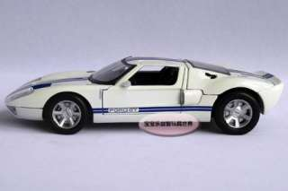 New Ford GT 124 Diecast Model Car With Box Back Hood is Detachable