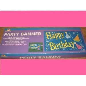 PLAN A PARTY HAPPY BIRTHDAY PARTY BANNER