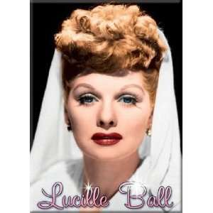 I Love Lucy Lucille Ball White Scarf Magnet 29638LU