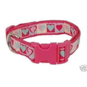 Douglas Paquette Nylon Dog Collar HEARTS 1x13 20