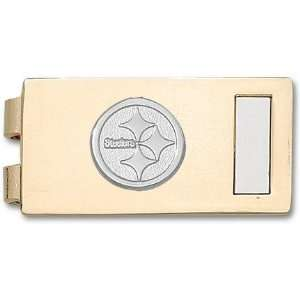 Logo on Two Tone (Gold Plated with Nickel Plated Insert) Money Clip