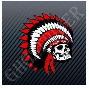 Indian Chief Skull Motorcycle Bikes Car Trucks Sticker