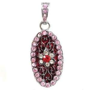 2GB USB Flash Drive Memory Disk Flower Crystal   Red