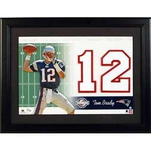Tom Brady New England Patriots Unsigned Jersey Numbers Piece