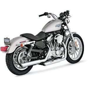 Vance & Hines Chrome Round Twin Slash Slip On Mufflers For