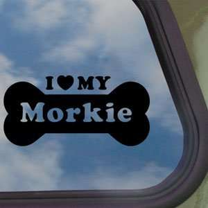 I Love My Morkie Black Decal Car Truck Window Sticker