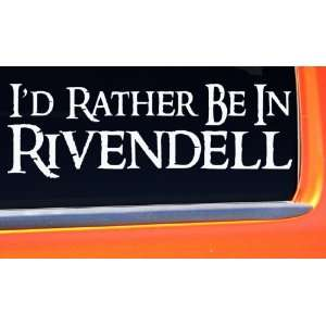 Be In Rivendell LOTR Bumper Sticker elf hobbit decal