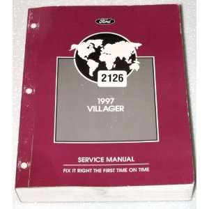 1997 Mercury Villager Van Factory Service Manual