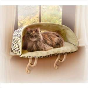 3098 Kitty Sill Deluxe Hooded Cat Bed in Tan