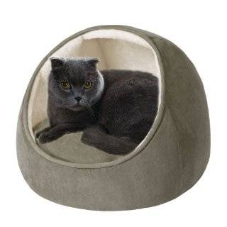 Precision Pet Chenille Hooded Cat Bed Tan
