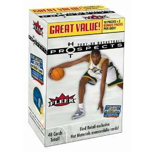 2007/08 Fleer Hot Prospects Basketball 12 Pack Box  Sports
