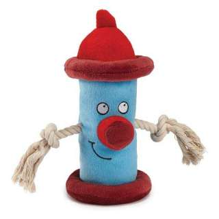 Dog HAPPY HYDRANT Blue, Red Puppy Toy Pet Pup Chew Rope Toys Soft