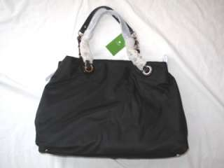 NWT KATE SPADE MARYANNE BLACK NYLON DIAPER BABY BAG $475