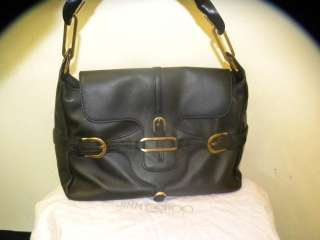 JIMMY CHOO black soft leather handbag