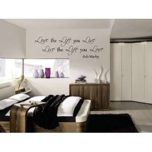 Love The Life you Live Bob Marley Vinyl Wall Decal