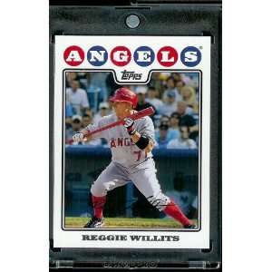 2008 Topps # 644 Reggie Willits   Angels   MLB Baseball Trading Card