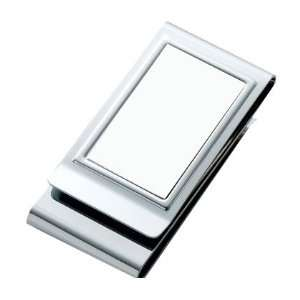 Two Sided Chrome Metal Plated Money Clip